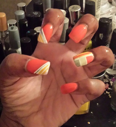 Orange glossy