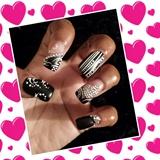 Black and white Valentine Affair, diamond hearts