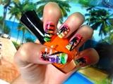 Beach nails design