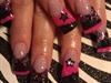 Black/pink stars