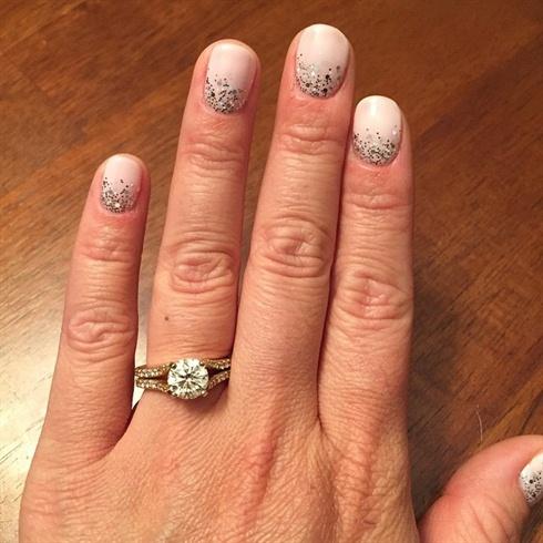 OPI Gel Color Wedding Mani w/ Glitter