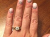 OPI Gel Color Wedding Mani w/ Glitter