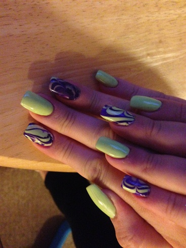 Lime And Purple Marble