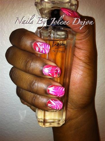 Pink Valentine's Nails