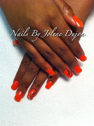 Diamond Acrylic Nails