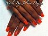 Acrylic Nails W/ Stripes & Diamonds