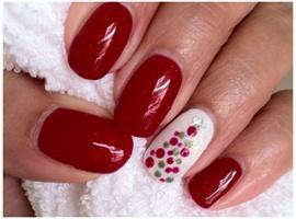 nail art: CND Shellac In Ruby Ritz