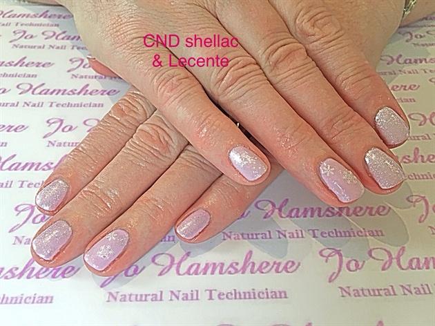 Pink Xmas Nails