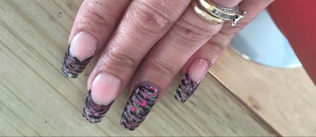 Acrylic Pink Glitter