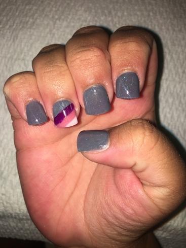 Gray With Multi-Stripe