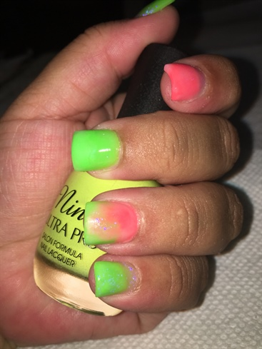 Neon Lime And Pink Mix Orange