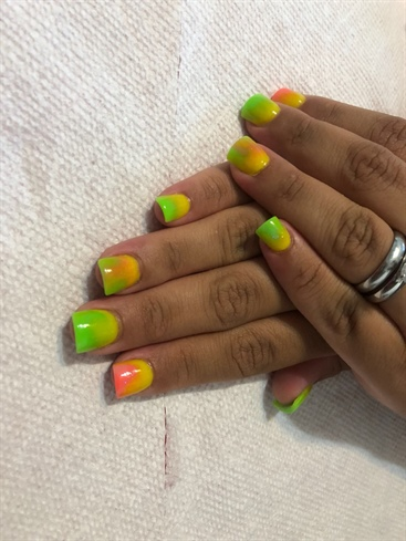 Neon Lime, Yellow & Orange/Peach
