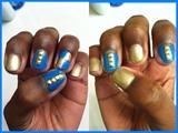 Blue And Gold Rhinestones