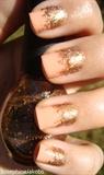 Glitter gradient (peach-bronze glitter)