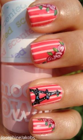 Romantic Parisian nails