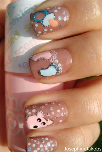 Baby inspired nails