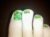 Green Camo toenails