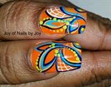 Orange Bursts II by Joy Robinson