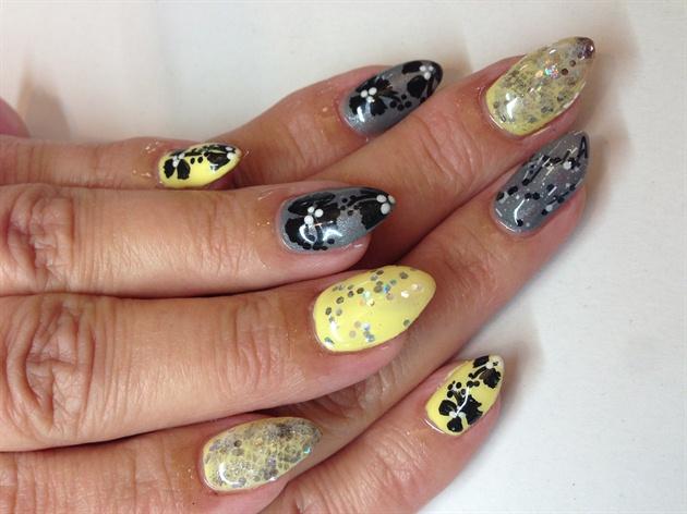 Pastel yellow and grey nail art gallery pastel yellow and grey prinsesfo Gallery