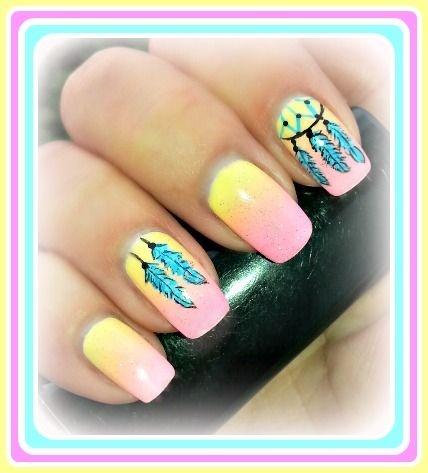 Dreamcatcher nail art - Dreamcatcher Nail Art - Nail Art Gallery