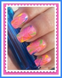 Abstract stripe nail art