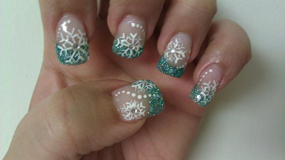 Snowflake Nails - Nail Art Gallery