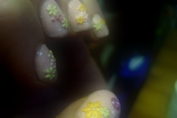 spring time nail art