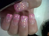 pink glitter gel