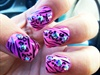 Cheetah zebra Pink Fade <3