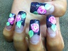 Neon Pink Roses base Dark Angel glitter