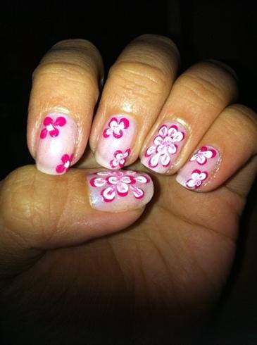 Pink Dotting Floral (Left)