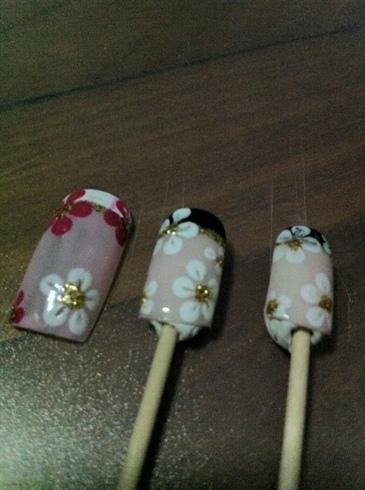 Various Floral Design on Fake Tip