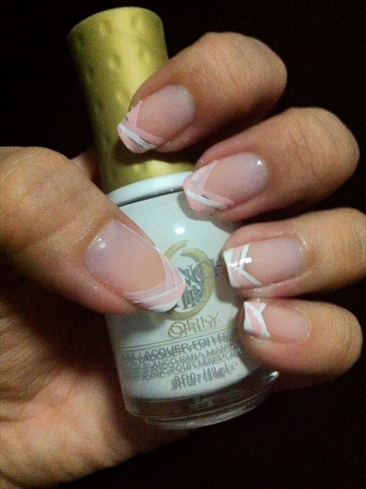 Random Pink & White line french