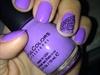 Lavender Lace Accent Nail