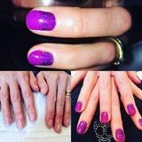 Purple ombre Glitter Fade