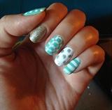 White & Turquoise