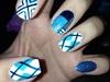 Argyle/color Blocking Nails