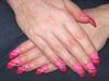 Cracked Pink Diagonal