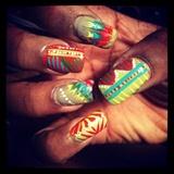 Tribal/Drag Nail Art, First Attempt =)