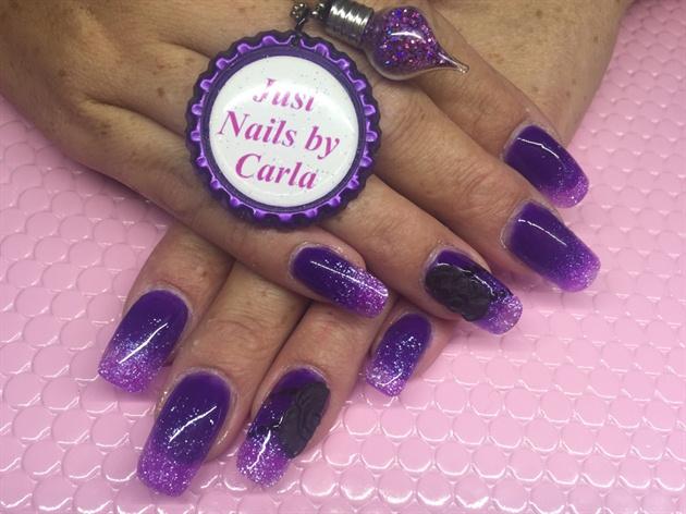 Purple Glitter Fade