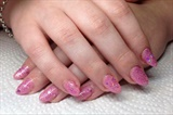 Pink With Glitter