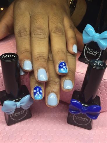 Blue Natural Nails