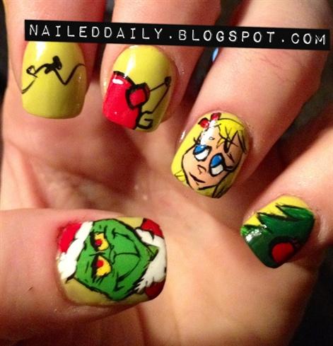Grinch Nail Art Gallery