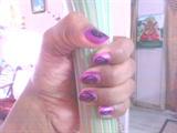 purple with black