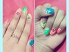 Simple Multi color nail art