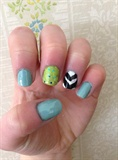 Blue & Green Chevron