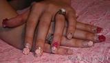 Pearl Hearts And Roses Nail Art