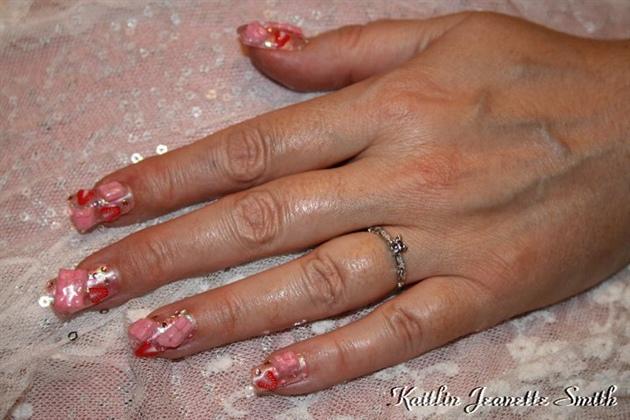 Strawberry Chocolate Nail Art