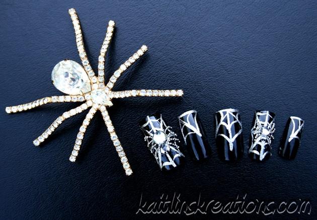 Teeny-Tiny Spider Nails