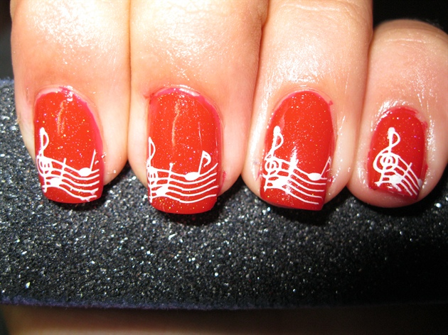 Christmas Carol Nails